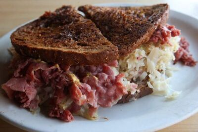 Massive Reuben sandwich from Luda's at 410 Aberdeen Ave. makes for perfect comfort food.