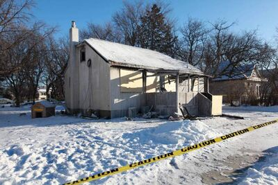 A house fire at 322 Taylor Ave. in Selkirk, Manitoba. There were no smoke detectors in the building, where a woman died of smoke inhalation.