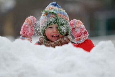Three-year-old Mattejas Kafka, for one, is not complaining about all the snow we got this winter.
