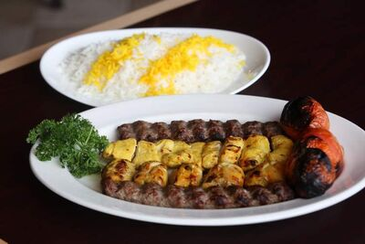 The Family kabob platter at Kabob Palace