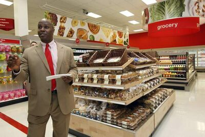 Derek Jenkins takes the media on a tour of the new Kildonan Place Target store ahead of today's 8 a.m. soft opening.