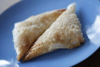 Turnovers made with phyllo dough are light and lovely.