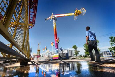 The new Mach 3 undergoes final testing Thursday in preparation for the opening of the Red River Ex today.