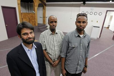 New mosque in Elmwood/Kildonan area at 431 Thames Ave.: From left: Imran Rahman, Kadar Ahmed and Ahmed Mohamed.