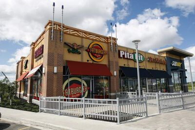 The Seasons of Tuxedo retail centre will boast a Fatburger outlet when it opens Aug. 8. The leasing agent is in talks with owners of sit-down restaurants.