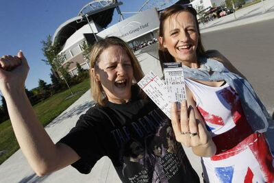 Cathy Anderson and Lisa Bowman are excited to be seeing Paul McCartney in concert at Investors Group Field in Winnipeg.