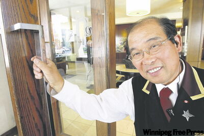 Jim Woo has been welcoming travellers to The Fairmont hotel downtown since August 1970.