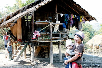 There are up to 400,000 Karen in Thailand. In rural areas, Karen villagers live in raised huts their animals sleep under at night. Eco-tourism involving the countrys hill tribes helps address poverty and lack of opportunity.