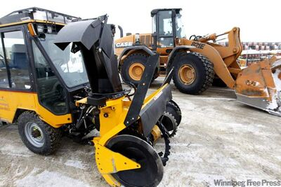 City of Winnipeg Public Works Dept. snow clearing equipment is seen in a file photo.
