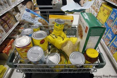 Winnipeg Harvest is requesting canned tuna, salmon, chicken and turkey and canned fruit and vegetables.