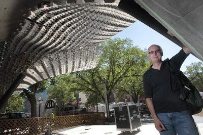 Chuck McEwen, executive producer of the Winnipeg Fringe Theatre Festival, in the Cube at Old Market Square.