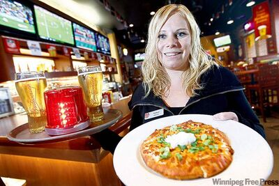 Boston Pizza's Kyanne MacDonald-Johnson says the place was packed for the game.