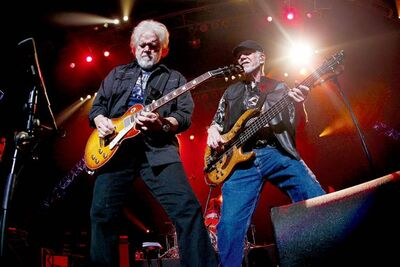 Randy Bachman and Fred Turner perform at the MTS Centre Saturday night.
