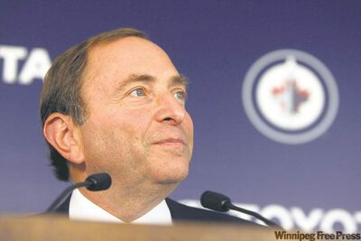 BORIS MINKEVICH / WINNIPEG FREE PRESS archives NHL commissioner Gary Bettman says �price has never been an issue� in talks with prospective Coyotes owners. He didn�t deny the league is asking $170 million for the Glendale, Ariz., franchise.
