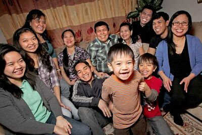 Three generations of the Maglalang family represent the faces of the growing Filipino community in Manitoba.