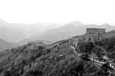 The 8,851.9-kilometre Great Wall of China stretches from Shanhaigan in the east to Lop Lake in the west.