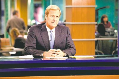 Jeff Daniels stars as senior anchor Will McAvoy in The Newsroom.