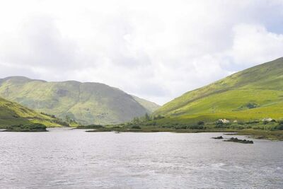 Killary Harbour, County Galway in Ireland.