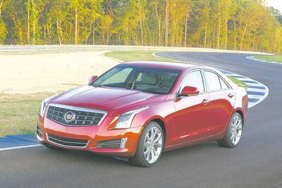 The all-new Cadillac ATS was chosen as the top new luxury car. The Hyundai Santa Fe Sport, below, also won its category.