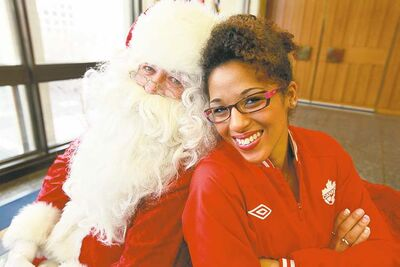RUTH BONNEVILLE / WINNIPEG FREE PRESS  Santa Claus and grand marshal  Desiree Scott will  be the stars of the show this year for Winnipeg's annual Santa Claus Parade, which takes place on Nov. 17 downtown.