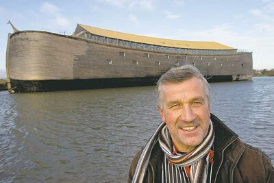 Johan Huibers, with his ark, says he didn't build it because he fears a worldwide flood of biblical proportions, but rather so people could find God and eternal life.