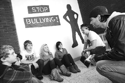 Students in Sydney, N.S., campaign against bullying.