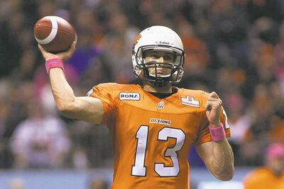 Don't count on B.C. Lions backup QB Mike Reilly landing in Winnipeg.