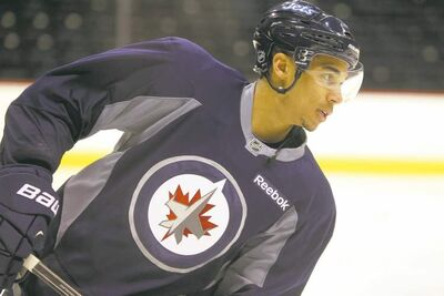 Evander Kane was back on the ice in a Winnipeg Jets jersey Saturday at the MTS Centre. Kane says his heart and his head are firmly in Winnipeg.