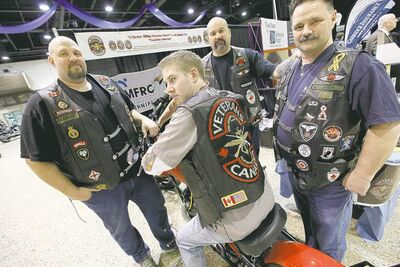 John Woods / Winnipeg Free PressPaul de Groot (from left), Will Lee, Mark Vandersteen and Dave MacKenzie, members of the Tri-Service Military Veterans Association, are holding a social on Friday to help Paul�s brother, Tony de Groot.