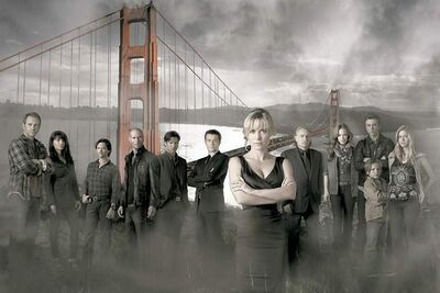 "RED WIDOW - ABC's ""Red Widow"" stars Lee Tergesen as Mike Tomlin, Suleka Mathew as Dina Tomlin, Clifton Collins, Jr. as FBI Agent James Ramos, Luke Goss as Luther, Wil Traval as Irwin Petrov, Goran Visnjic as Nicholae Schiller, Radha Mitchell as Marta Walraven, Rade Serbedzija as Andrei Petrov, Jaime Ray Newman as Kat Castillo, Sterling Beaumon as Gabriel Walraven, Jakob Salvati as Boris Walraven and Erin Moriarty as Natalie Walraven. (ABC/BOB D'AMICO)"