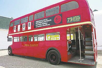 The double decker bus will begin service on Saturday and continue throughout the summer.