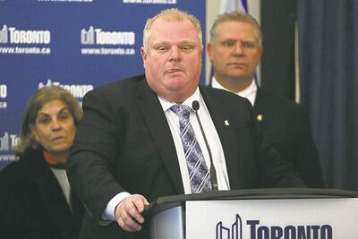 Toronto Mayor Rob Ford is accusing Sarah Thomson of 'crying wolf'  with her accusation of inappropriate touching.