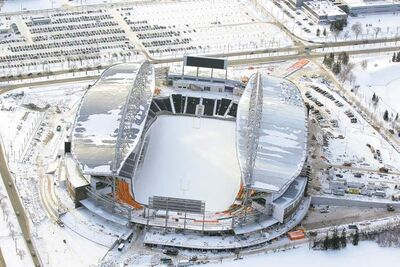 Investors Group Field on the University of Manitoba campus could be the site of a big-time hockey game in 2016.