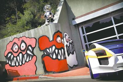 Chris Brown's murals are apparently scaring the neighbours' children.
