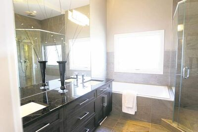 There are no less than three bathroom in the 2,237 square foot bungalow in Headingley.