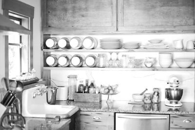 Most of the material in Christina Symons's kitchen was recycled, repurposed and re-imagined for new life and new uses.