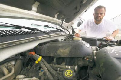 Eugene Skotniczy had the failing immobilizer removed from his truck, which MPI says was illegal and prompted the insurer to cancel his insurance.