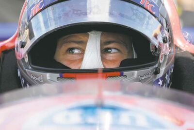 Matt Slocum / The Associated PressMarco Andretti waits for his turn during a practice session for today�s Pocono IndyCar 400.