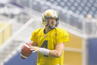 Winnipeg Blue Bombers QB Buck Pierce has the green light to bolt from the pocket if he feels so inclined. Sliding is optional.