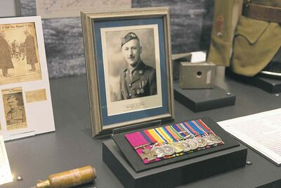 Photos by Sarah Taylor / Winnipeg Free Press The display of Lieutenant Robert Shankland and his medals at the Manitoba Museum. August 6, 2014