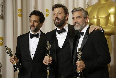 Argo producers Grant Heslov, Ben Affleck and George Clooney prove that almost anything goes with an Oscar for best picture, including beards. Facial hair was almost as prevalent as tuxedos at the star-studded ceremony, even if some critics wish they shaved before the show.
