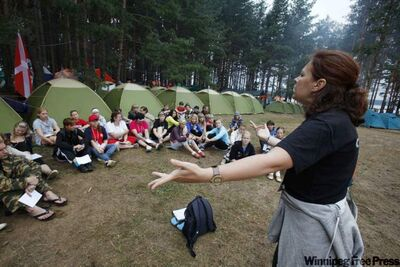 Youth summer camp in Nilova Pustyn, Russia.