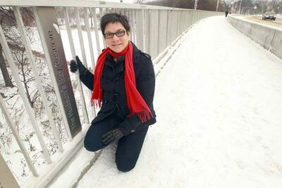 Coun. Jenny Gerbasi on the new and improved Osborne Street Bridge.