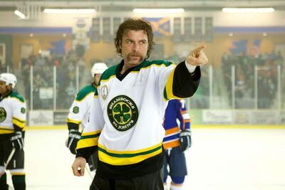 Actor Liev Schreiber as hockey enforcer Ross Rhea  is shown in a scene from the movie Goon.