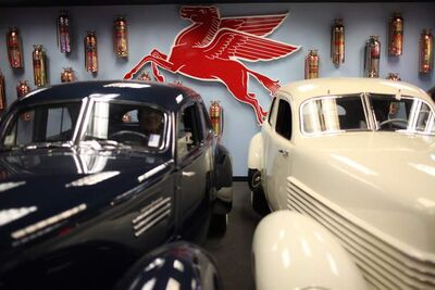 A 1940 Graham Hollywood, left, and a 1937 Cord 812 Beverly.