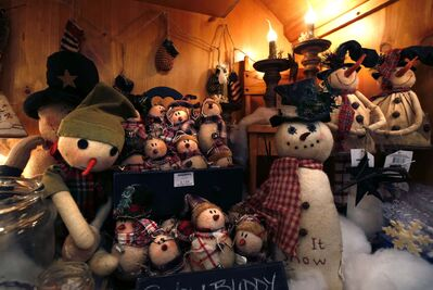 The snowmen at As Time Goes By are enjoying the chilly weather.</p>