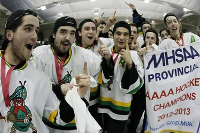 The John Taylor Pipers are still No. 1 after defeating the Oak Park Raiders at the St. James Civic Centre Monday to win the provincial high school hockey banner.