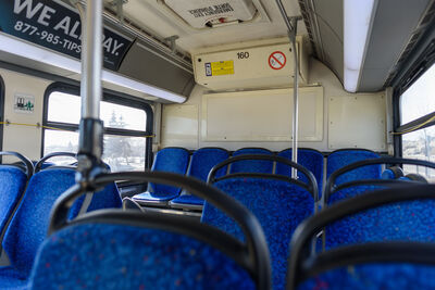 Winnipeg Transit ridership decreased as much as 72 per cent in April.