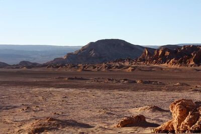 Dry as bone: the Atacama Desert is a 1,000 kilometre-long strip of land that receives little to no rain, making it the driest place on earth.