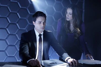 Brett Dalton and Chloe Bennet in ABC's 'Agents of S.H.I.E.L.D.'